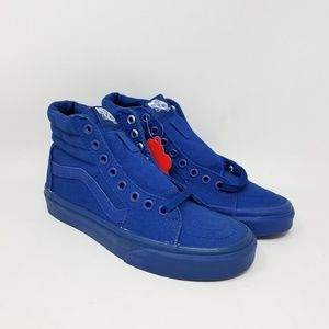 Vans Sk8-Hi Mono Canvas Blue Sneakers Men's Size 4